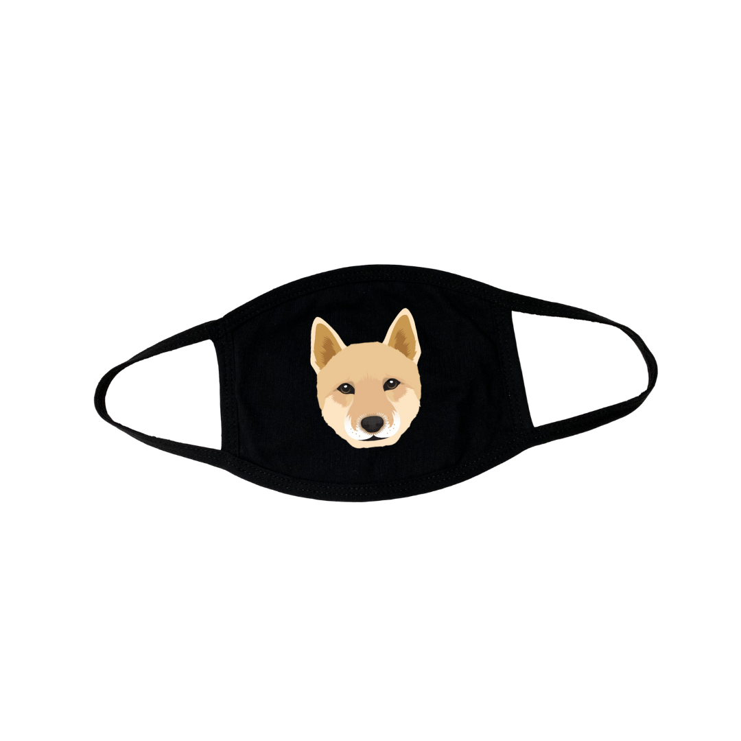 Jindo Puppy Face Mask
