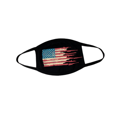 Distressed Flag Face Mask