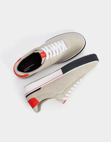 Bershka Contrast Leather Sneakers