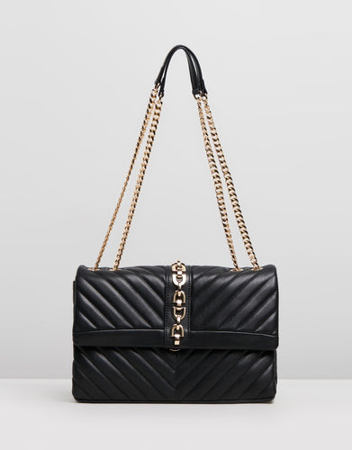 Topshop Casey Chain Shoulder Bag- Black