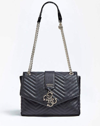 Guess Quilted Medium Bag - Black