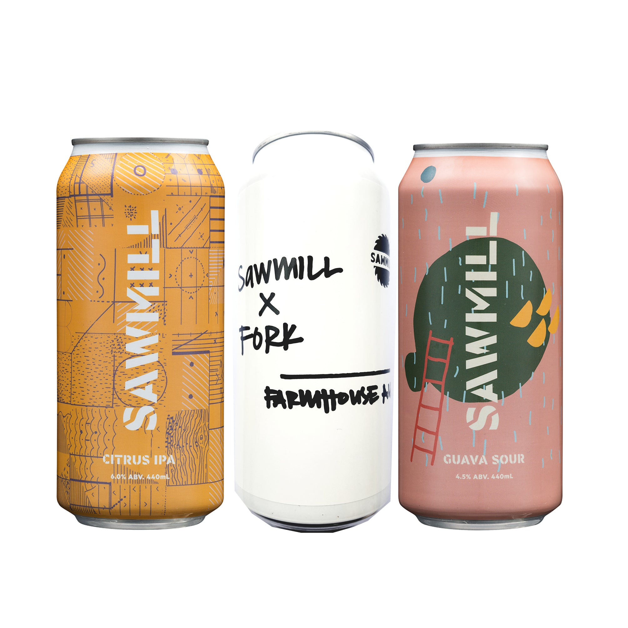 Sawmill Mixed pack - 12 x 440ml cans (4 of each)