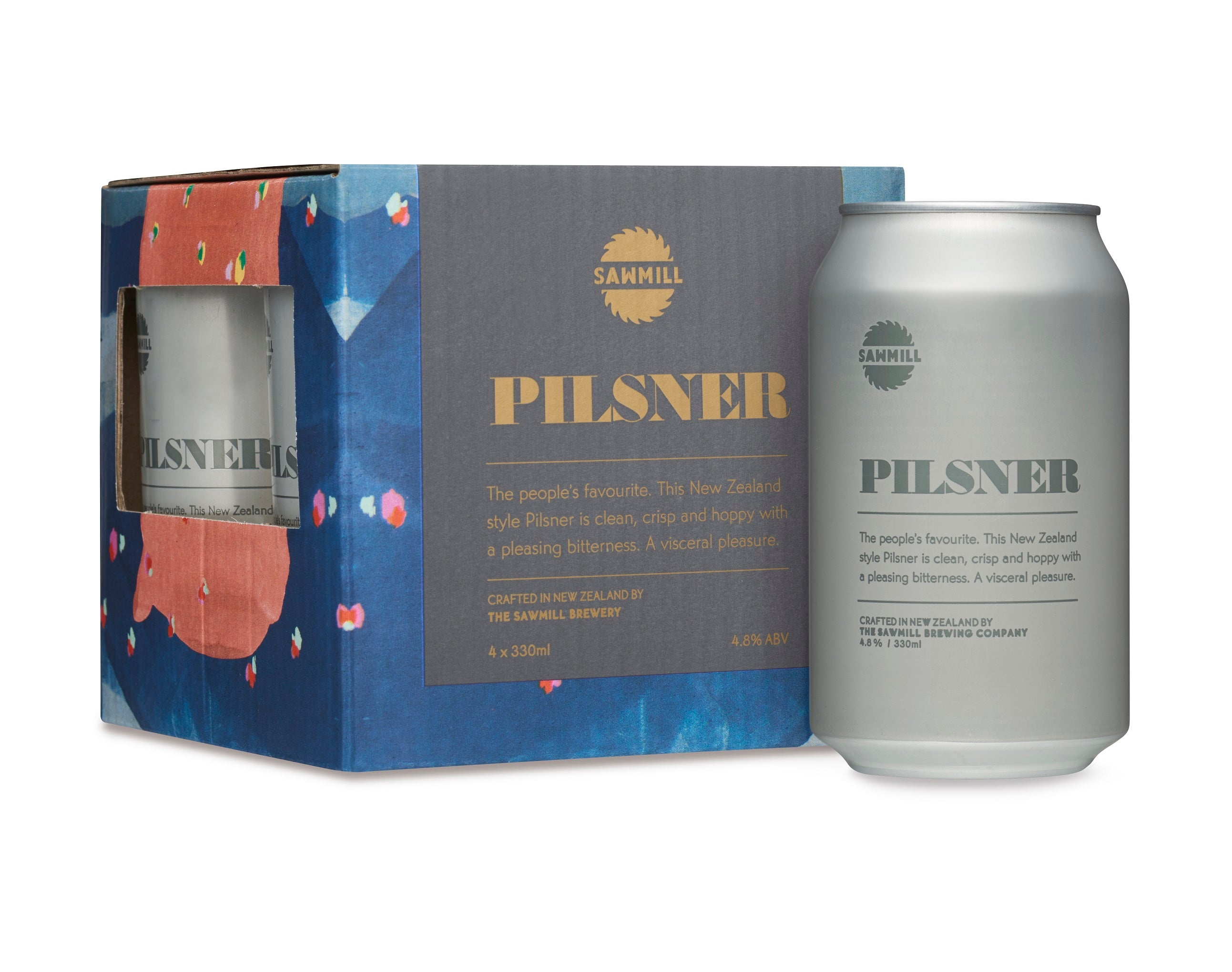 Sawmill Pilsner. New Zealand made beer