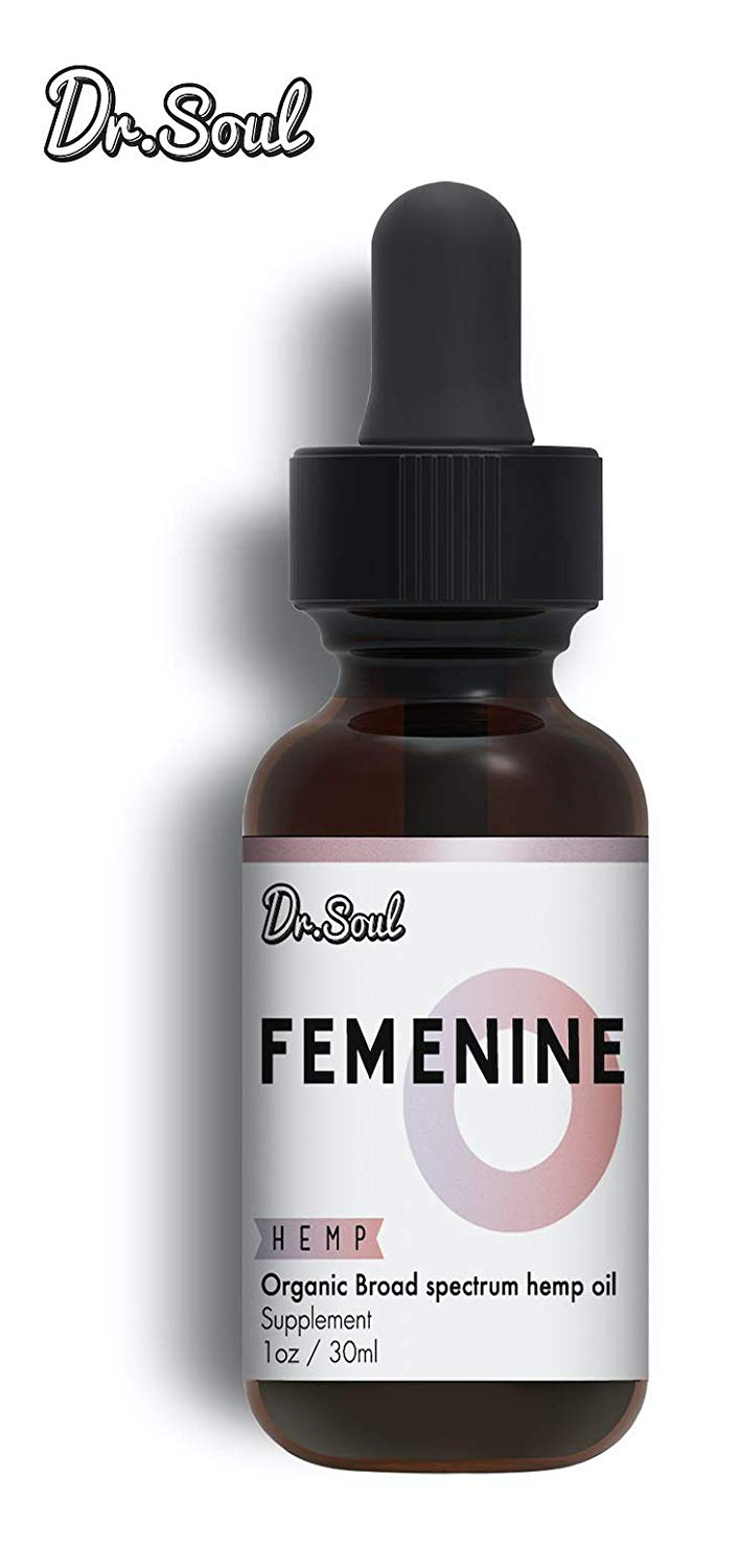 FEMENINE Organic Hemp Oil – Natural Support for Women - 1 FL oz (30ml) – Made in USA
