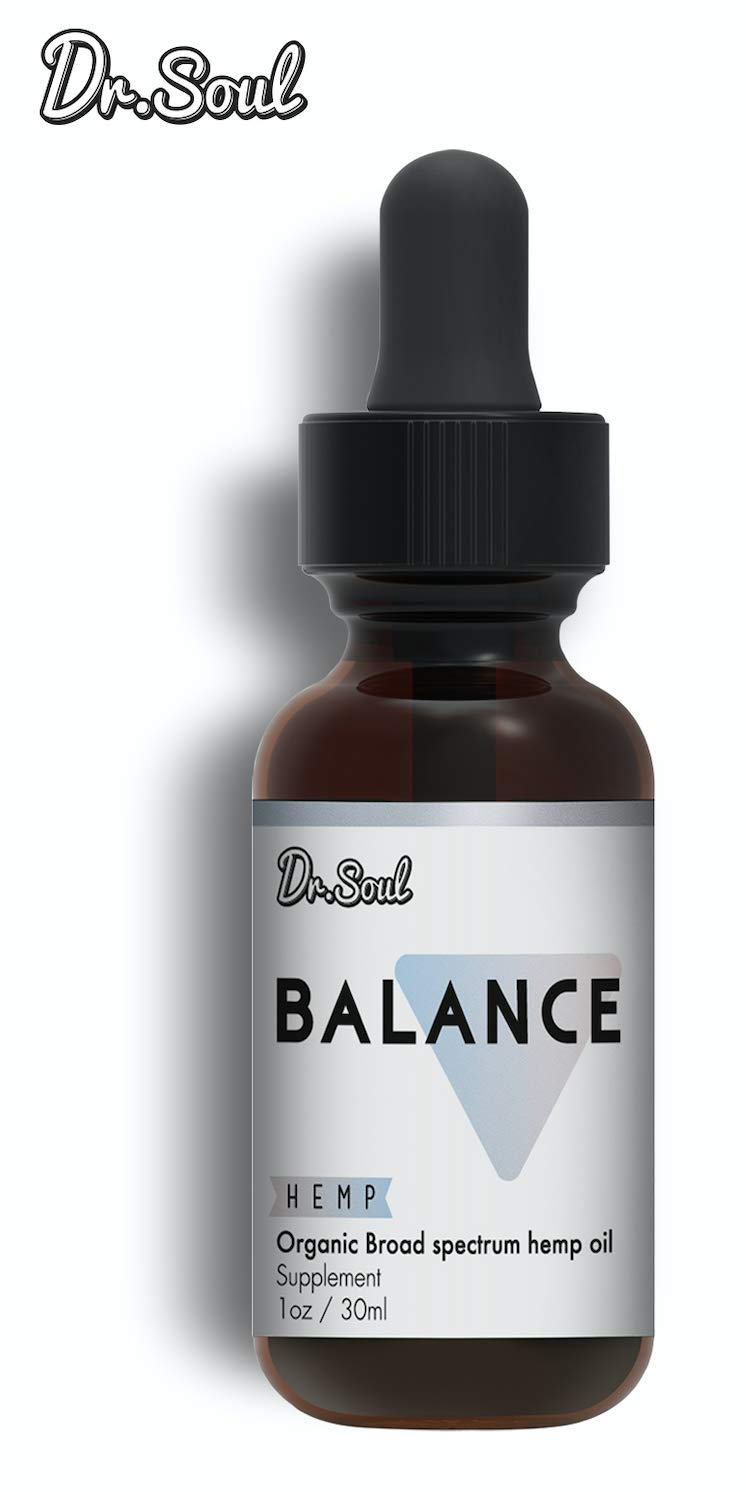 Balance Organic Hemp Oil - Stress Relief and Hormone Balance - Organic Hemp Oil Made with Black Maca, Ashwagandha, Mucuna 1 Fl Oz (30ml) - Made in USA
