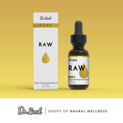 RAW Organic Hemp Oil – Pain Relief - Sleep Support - 1 Fl Oz. (30 ml) - Made in USA