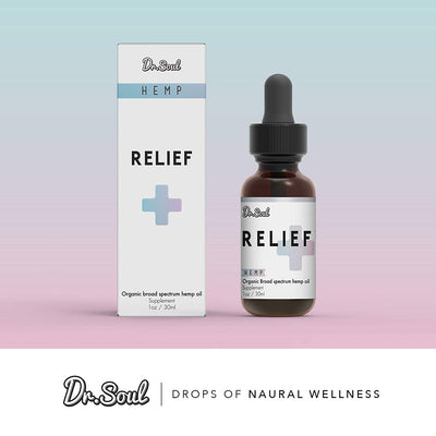 Relief Organic Hemp Oil - Stress and Pain Relief - 1 Fl Oz (30ml) - Made in USA
