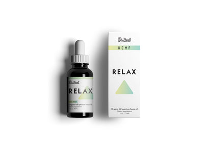 Relax Organic Hemp Oil - Support Natural Relaxation - Sleep Support - 1 Fl Oz. (30 ml) - Made in USA