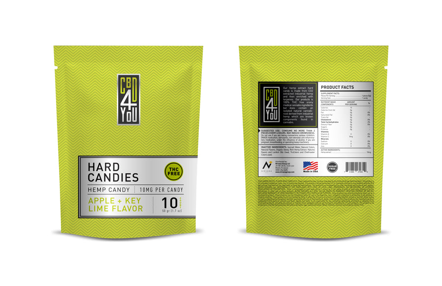 CBD4YOU Hemp Hard Candy 100mg - 3 Flavors