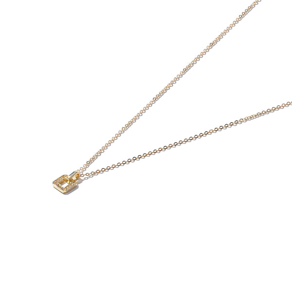 Solid 9ct Gold Soft Square Mini Pendant
