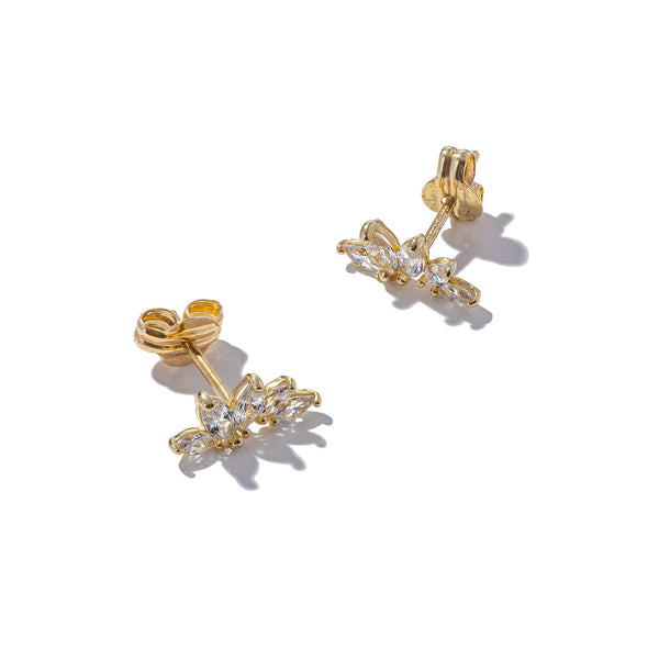 Solid 9ct Gold Mini Marquise