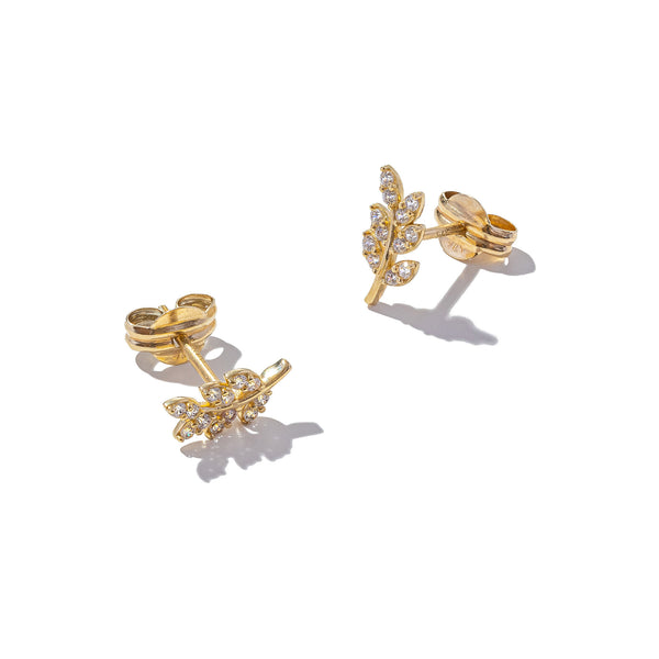 Solid 9ct Gold Fallen Leaf Earrings