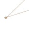 Solid 9ct Gold Clean Slate Pendant With Diamond