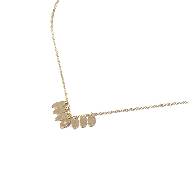 Solid 9ct Gold and Diamond Multi Drop Necklace
