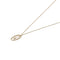 Solid 9ct Gold & Diamond Oval Drop Pendant