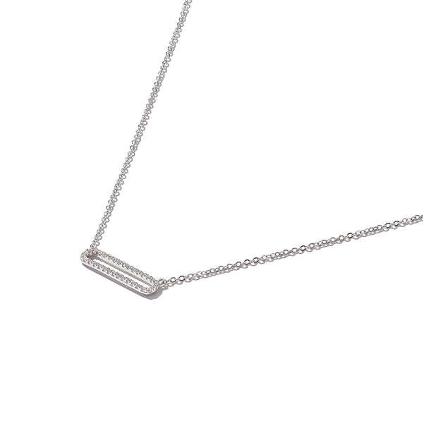 Sterling Silver Fallen Rectangle