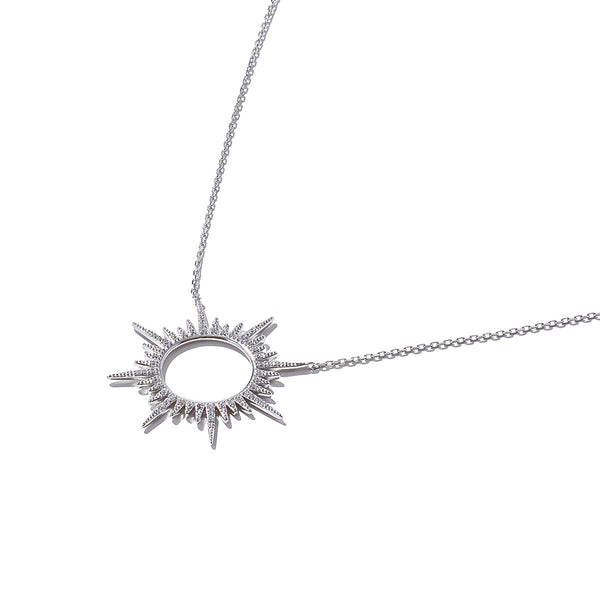Sterling Silver Sun Burst Necklace