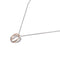 Sterling Silver Twist Pendant With Rose Gold Plating