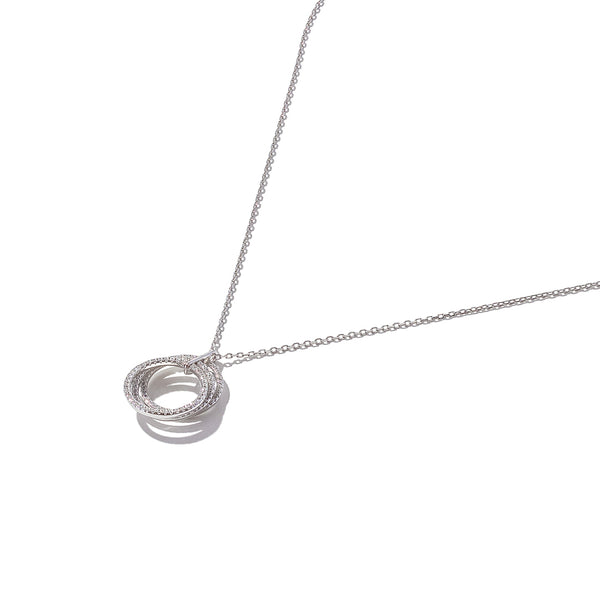 Sterling Silver Triple Circular Stack Pendant
