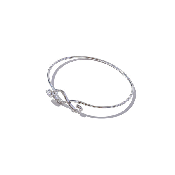 Sterling Silver Figure of Eight Bangle