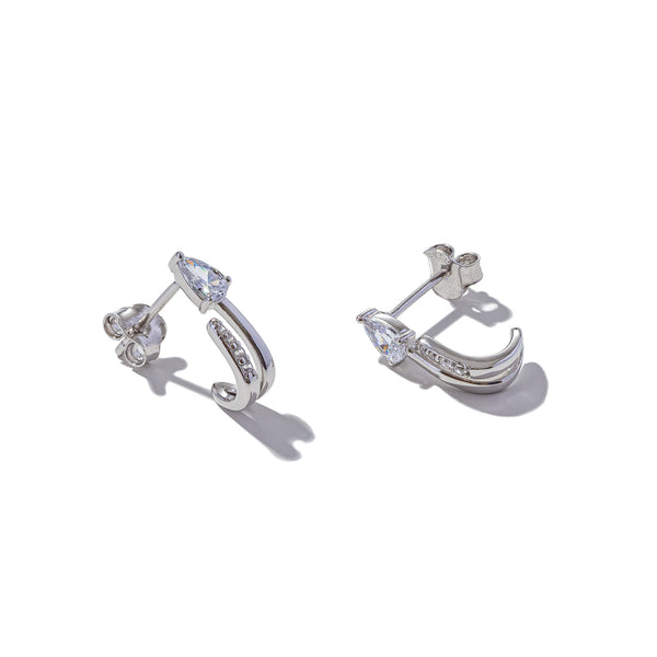 Sterling Silver Only Way is Up Earrings