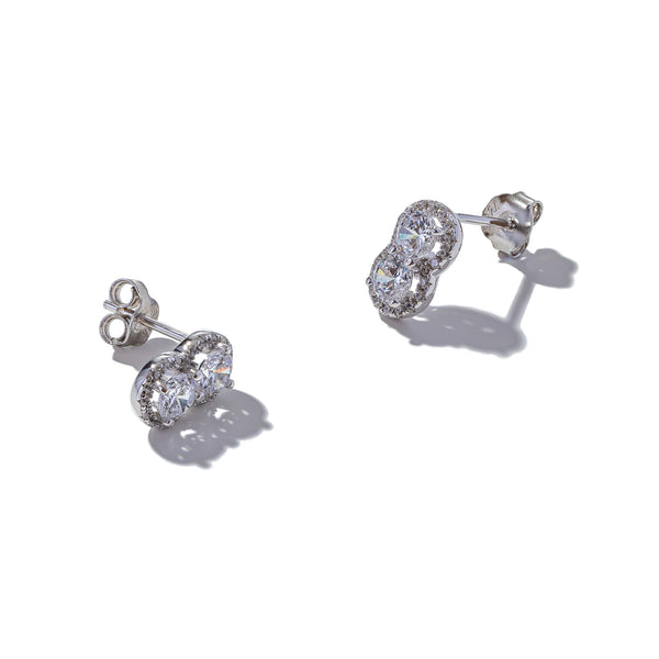 Sterling Silver Double Rubover Studs