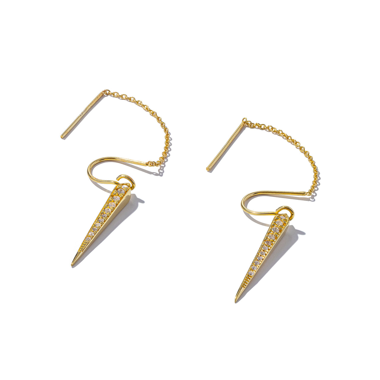 Sterling Silver Lantern Threaders With Gold Plating
