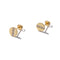 Solid Gold Trio Stud Earrings