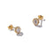 Luxurious Solid 9ct Gold Cluster Stud Earrings