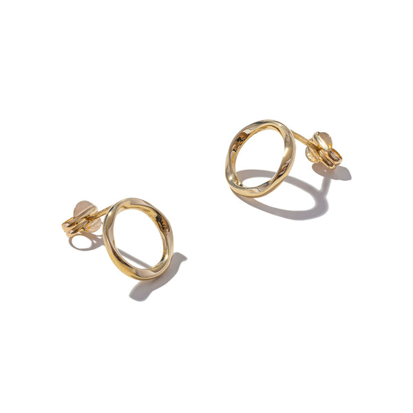 Solid 9ct Gold They're Twisted Earrings