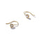 Solid 9ct Gold Rubover Solitaire Hooks