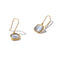 Solid 9ct Gold Grey Cat's Eye Earrings