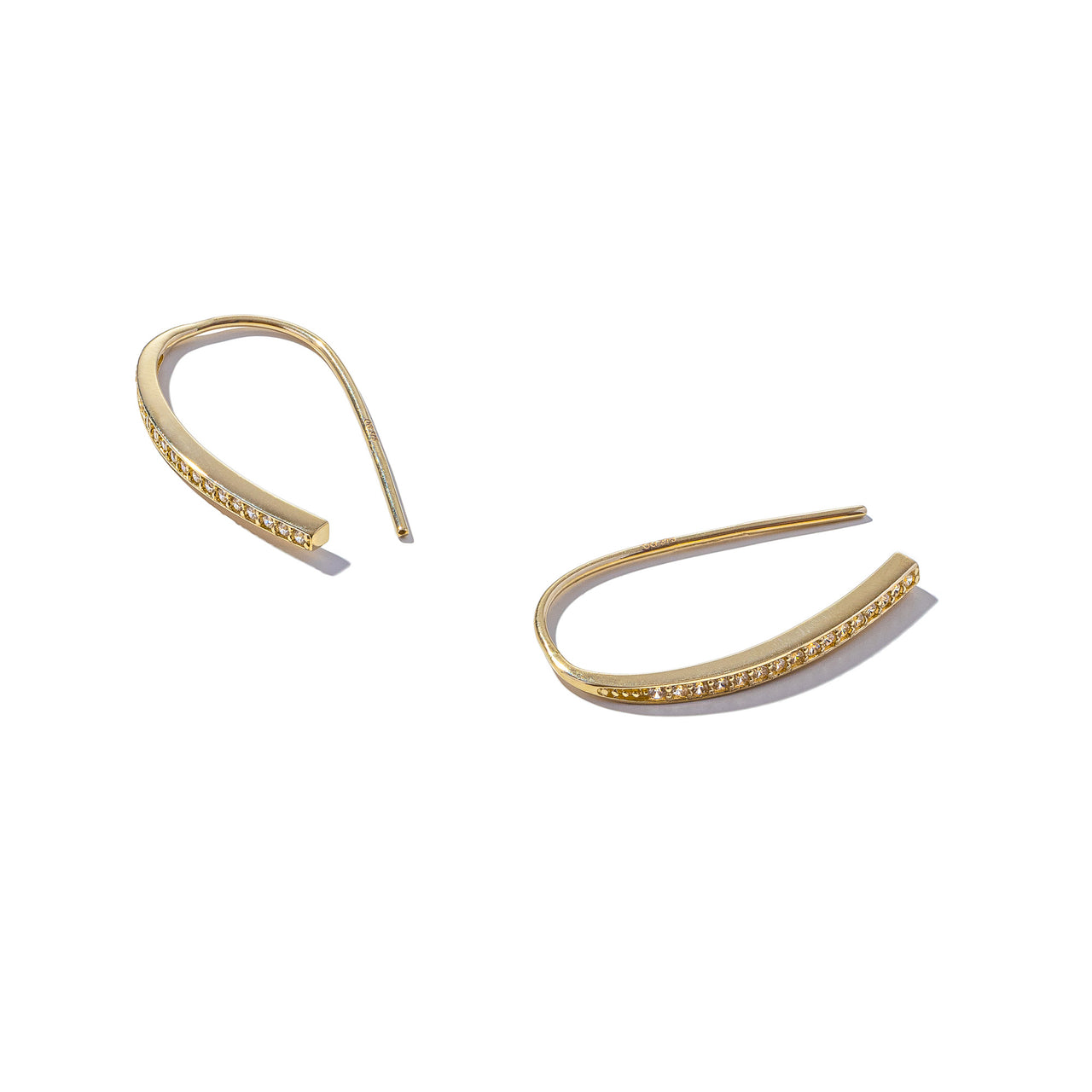 Solid 9ct Gold Get Hooked Earrings