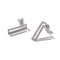 Sterling Silver Stone-Set Rectangle Drops