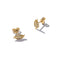 Solid 9ct Gold Autumn Leaves Earrings