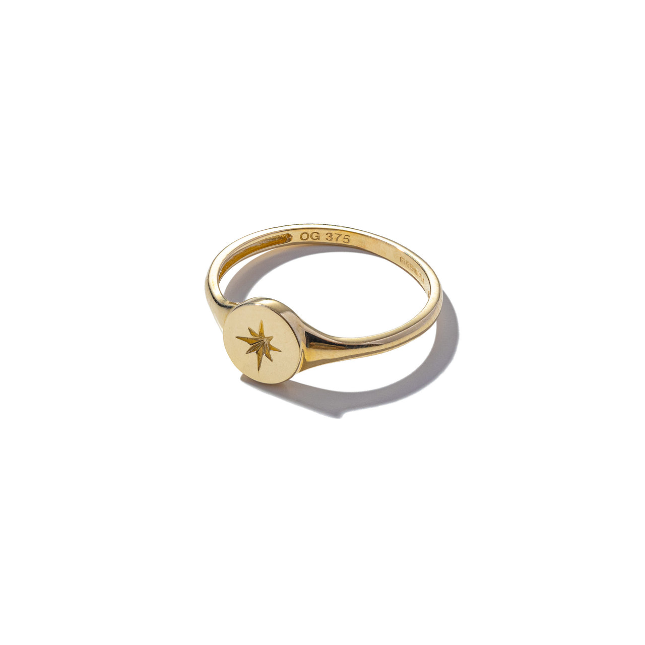 Solid 9ct Gold Aim High Ring