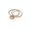 Solid 9ct Gold & Diamond Mini Double Ring