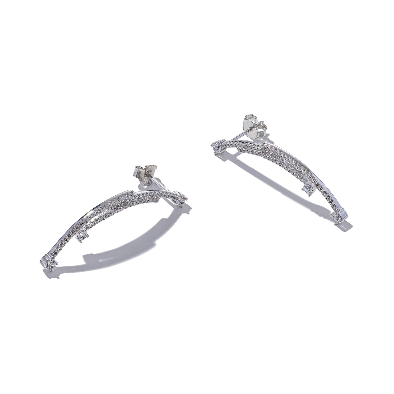 Sterling Silver Triple Arc Earrings
