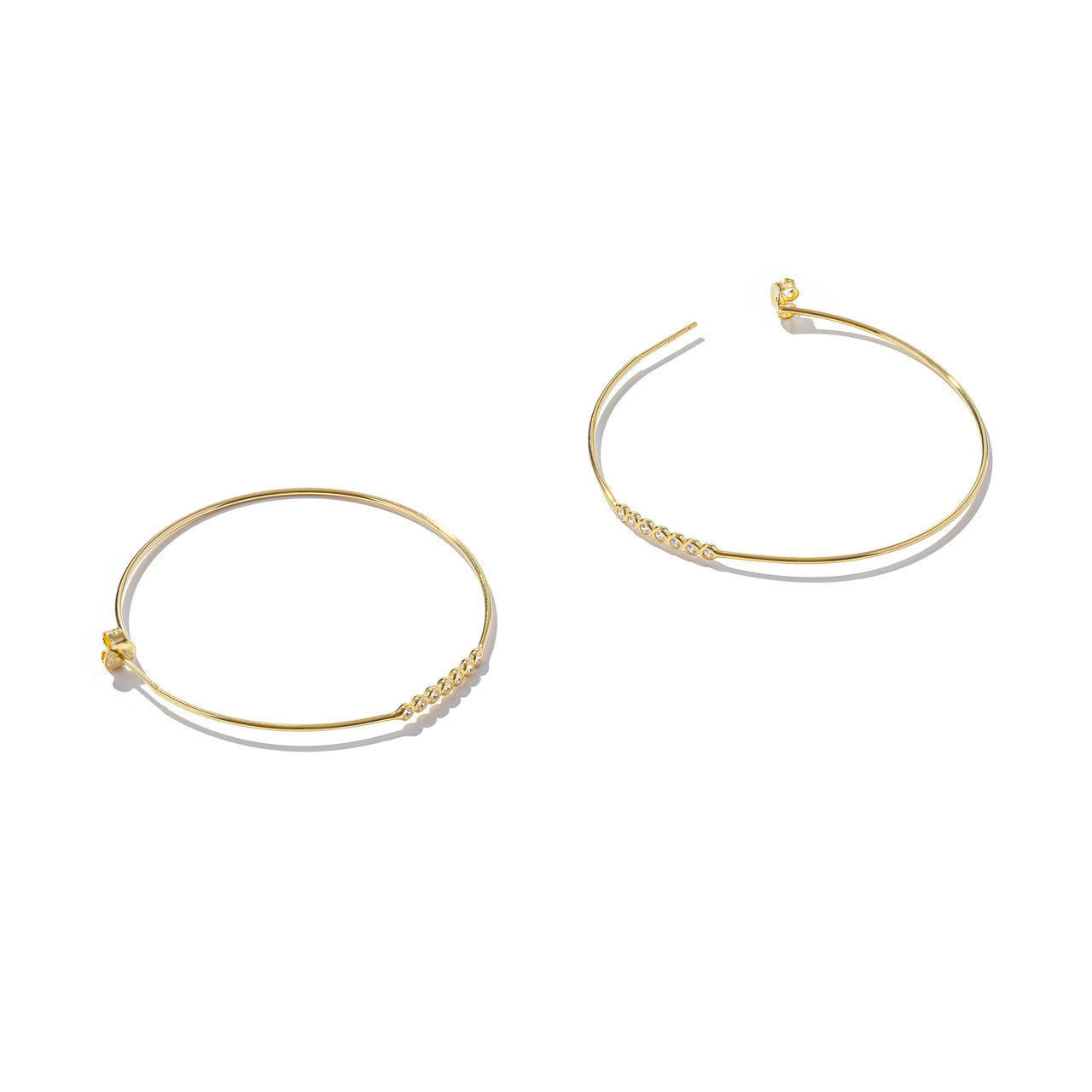 Sterling Silver The Golden Circle Earrings