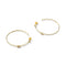 Sterling Silver Marquise Hoops With 14ct Gold Plating