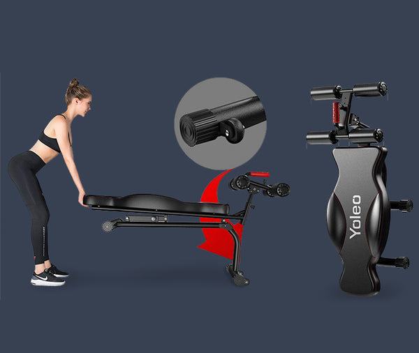 YOLEO Adjustable Weight Bench - Foldable Workout AB Bench for Home Gym|robustsport.com