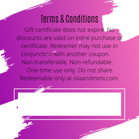 Gift Certificate $250 Value - Isla&Mimi Creations