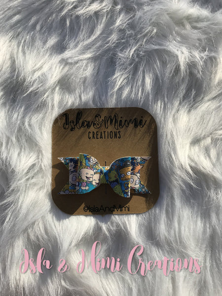 Baby Girl Bow - Little Girl Bow - Rugrats Hairbow - Isla&Mimi Creations