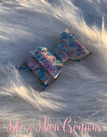 Baby Girl Bow - Little Girl Bow - Marble Multicolor Hairbow - Isla&Mimi Creations