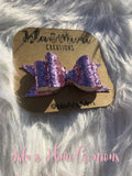 Baby Girl Bow - Little Girl Bow - Pink Glitter Hairbow - Isla&Mimi Creations