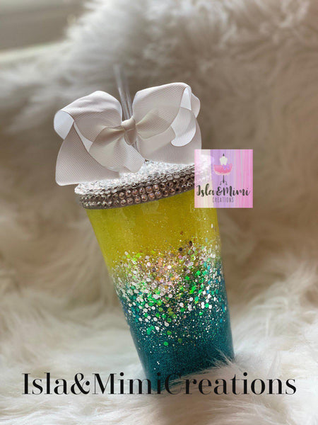 Custom Bling Cup - Personalized Bling Tumbler - Starbucks Tumbler - Isla&Mimi Creations