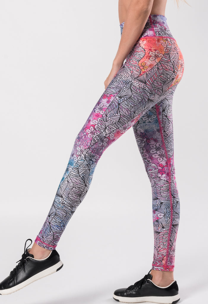 around leggings, leggings, high waisted leggings, slim fit leggings, printed leggings mujeres en mexico monterrey