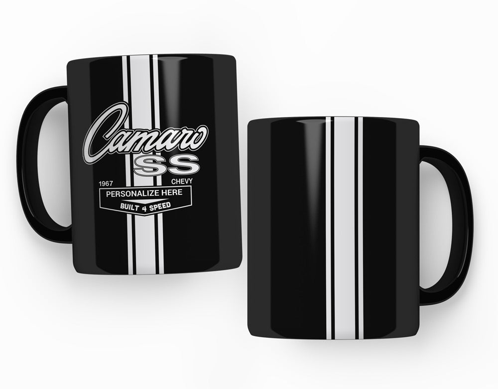 GM CAMARO Personalized, 15 Ounces -  Black Ceramic Mug