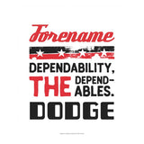Personalized Dodge Dependables White 50
