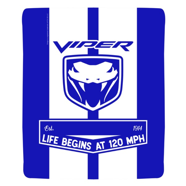 "Personalized Dodge Viper Fangs Icon 50""x60"" Sherpa Fleece Blanket"